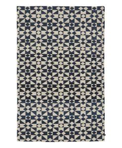 Tapete Kilim Moroccan 5 White/Dark Blue