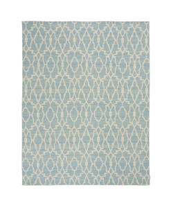 Tapete Kilim Freedom Moroccan 12 Acqua/Off White