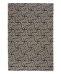 Tapete Kilim Freedom Dahlia 1 Black/Off White