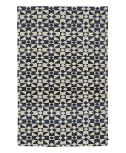 Tapete Kilim Moroccan 5 White/Dark Blue
