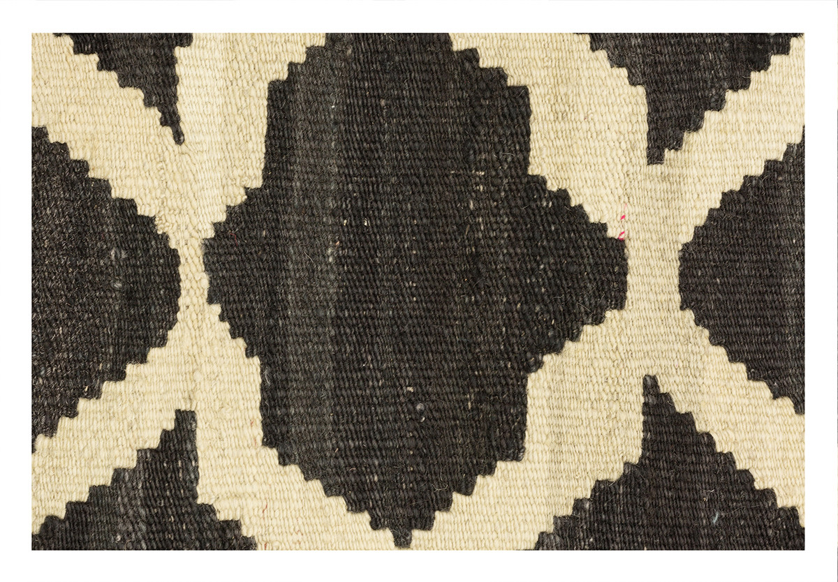 KILIM MOROCCAN 13 BLACK OFF WHITE