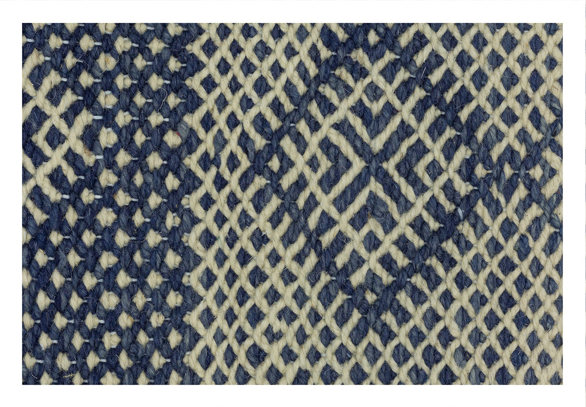 KILIM RIAD 13 OFF WHITE BLUE
