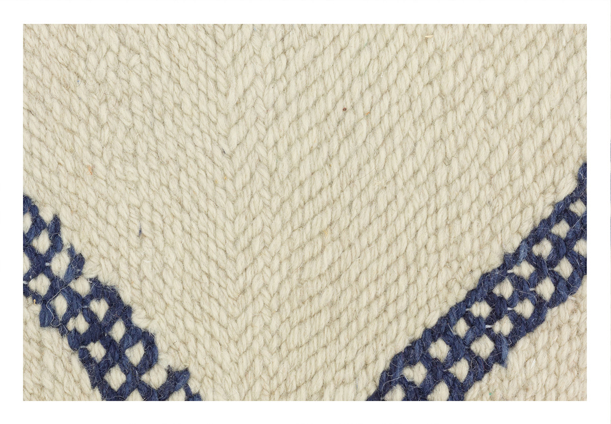 KILIM RIAD 4 OFF WHITE BLUE
