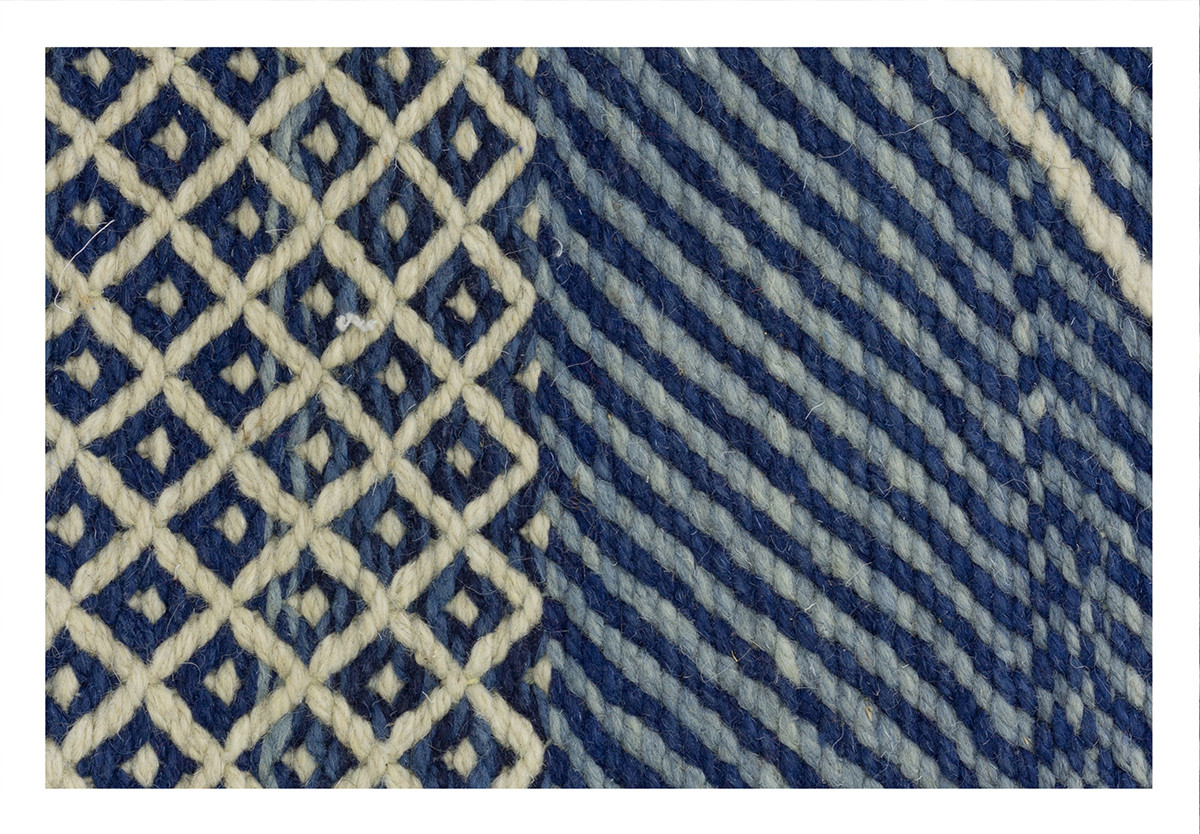 KILIM RIAD 5 OFF WHITE BLUE