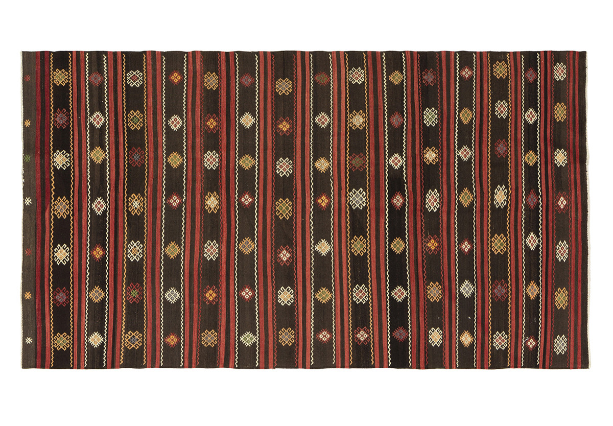 KILIM FOLKE 7 BROWN/RED