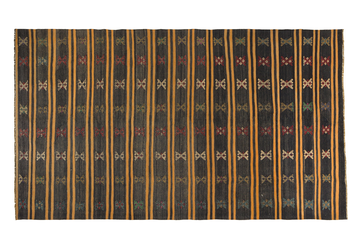 KILIM FOLKE 8 BLACK/ORANGE