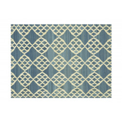 KILIM MOROCCAN 12 BLUE OFF WHITE