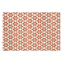 KILIM CALEIDOSCOPIO OFF WHITE/RED
