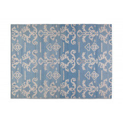 KILIM IKAT LASHMI LIGHT BLUE