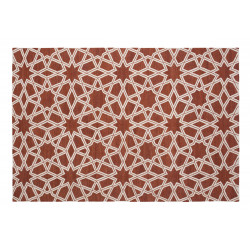 KILIM MOROCCAN 9 RUST-OFF WHITE