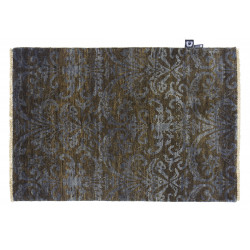 SHALIN DAMASK MOSS/GREY
