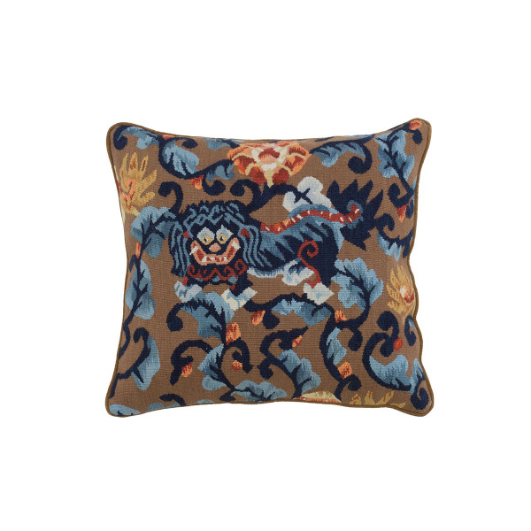 ALMOFADA AUBUSSON DRAGON BLUE D