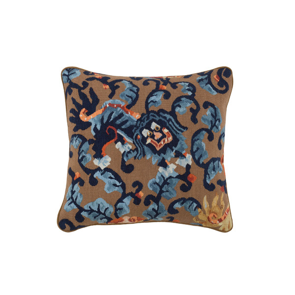 ALMOFADA AUBUSSON DRAGON BLUE E