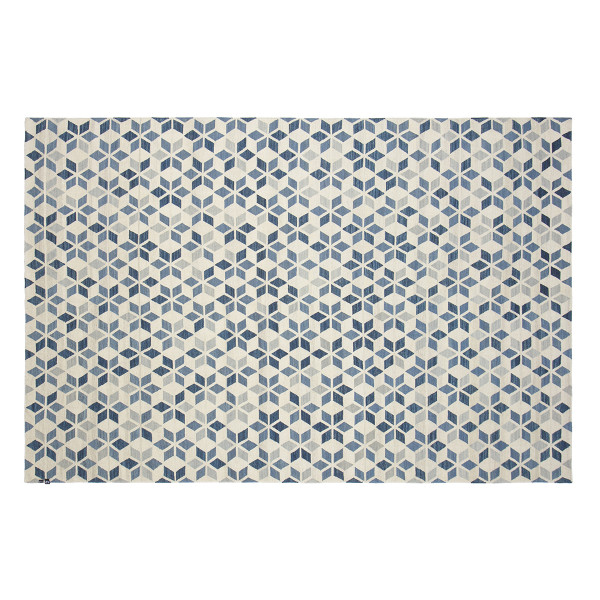 KILIM CALEIDOSCOPIO OFF WHITE/MIX BLUE