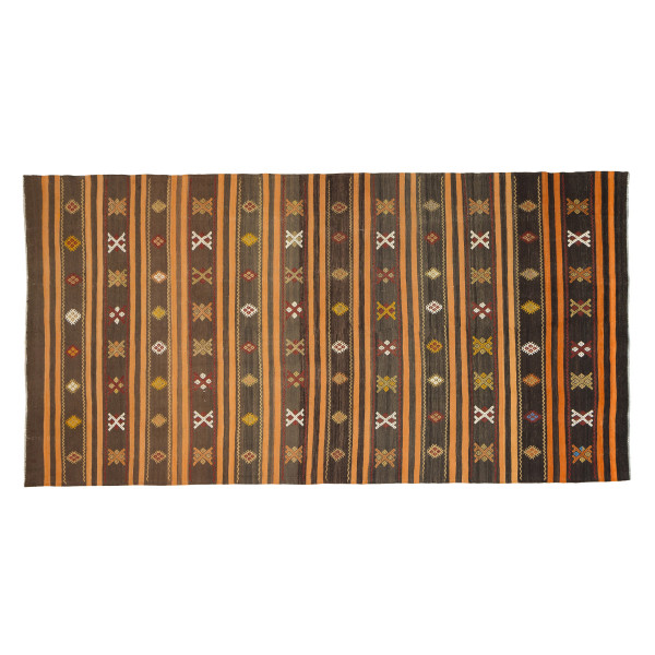 KILIM FOLKE 14 BROWN/ORANGE