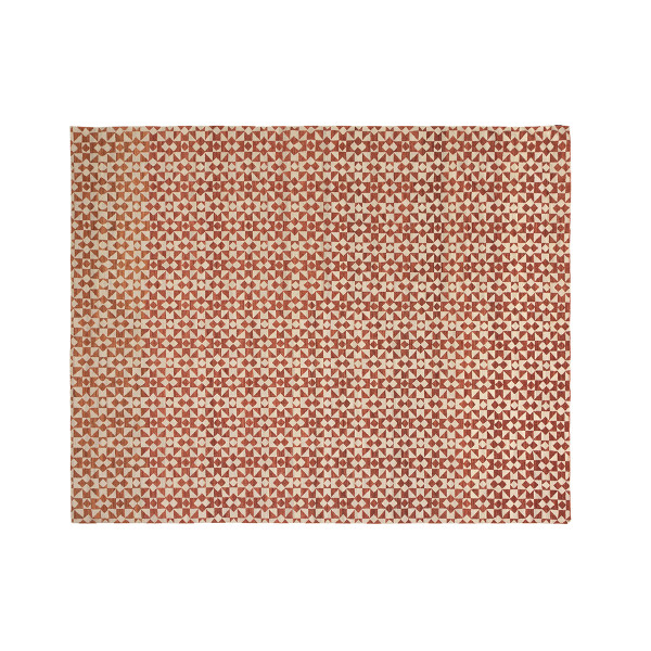 KILIM MOROCCAN 4 WHITE/RED